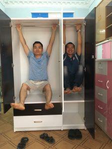 Tủ nhựa Đài Loan 3 cánh 2 ngăn kéo to cao cấp