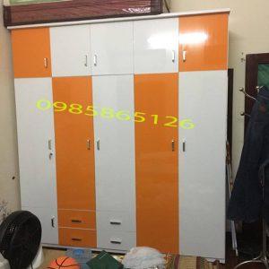 Tủ nhựa Đài Loan 5 cánh cao cấp, màu sắc đa dạng