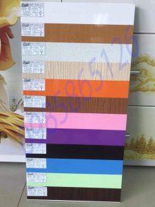 Bảng màu tủ nhựa Đài Loan tại Hà Nội