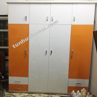 Tủ nhựa Đài Loan 4 cánh 4 ngăn kéo cao 2m4 cao cấp, tiện lợi