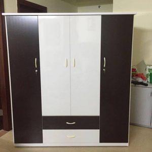 Tủ nhựa Đài Loan 4 cánh 2 ngăn kéo cao cấp
