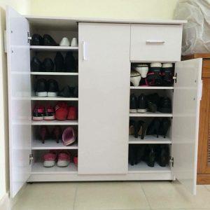Tủ đựng giày nhựa 3 cánh 1 ngăn đảm bảo chất lượng