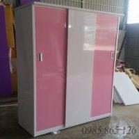 Tủ nhựa cánh lùa Đài Loan bền đẹp, chất liệu nhựa nhẹ, sản xuất theo công nghệ hiện đại