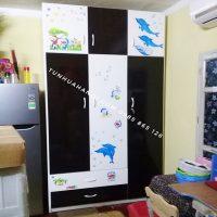 Tủ nhựa Đài Loan 3 cánh cao cấp, bền đẹp, giá rẻ nhất Hà Nội