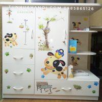 Tủ nhựa Đài Loan cho bé cao cấp, giá rẻ nhất Hà Nội