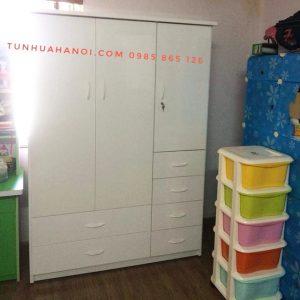 Tủ nhựa Đài Loan 3 cánh 6 ngăn cao cấp, bền đẹp