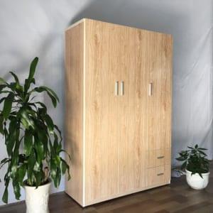 tủ đựng quần áo 3 buồng 2 ngăn