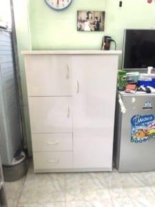 tủ nhựa cho bé c102 màu trắng