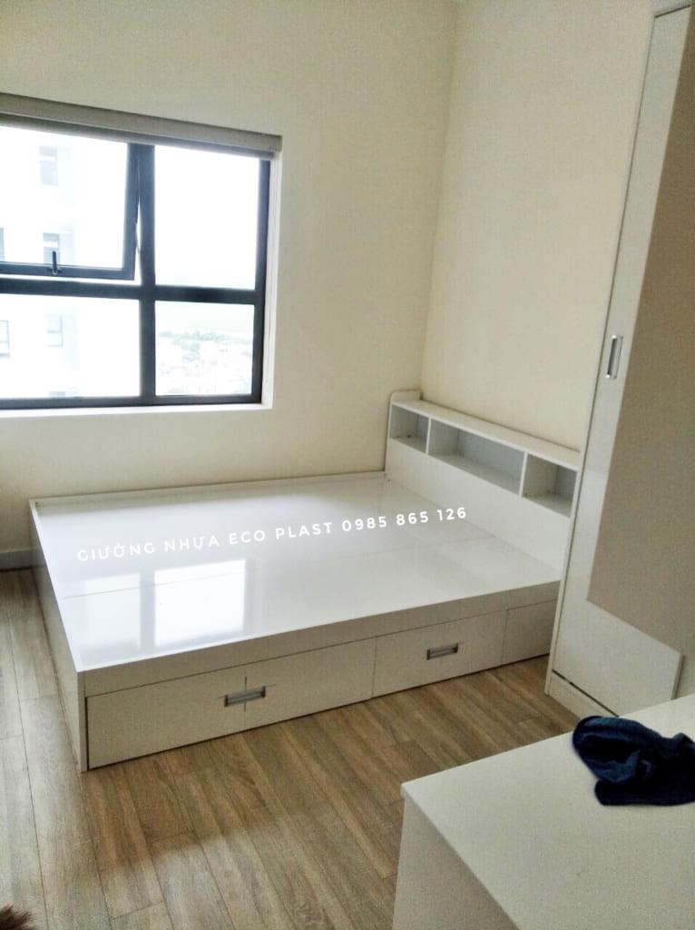 giường nhựa Ecoplast có hộc để đồ