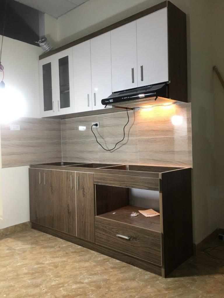 tủ bếp bằng nhựa cho chung cư mini