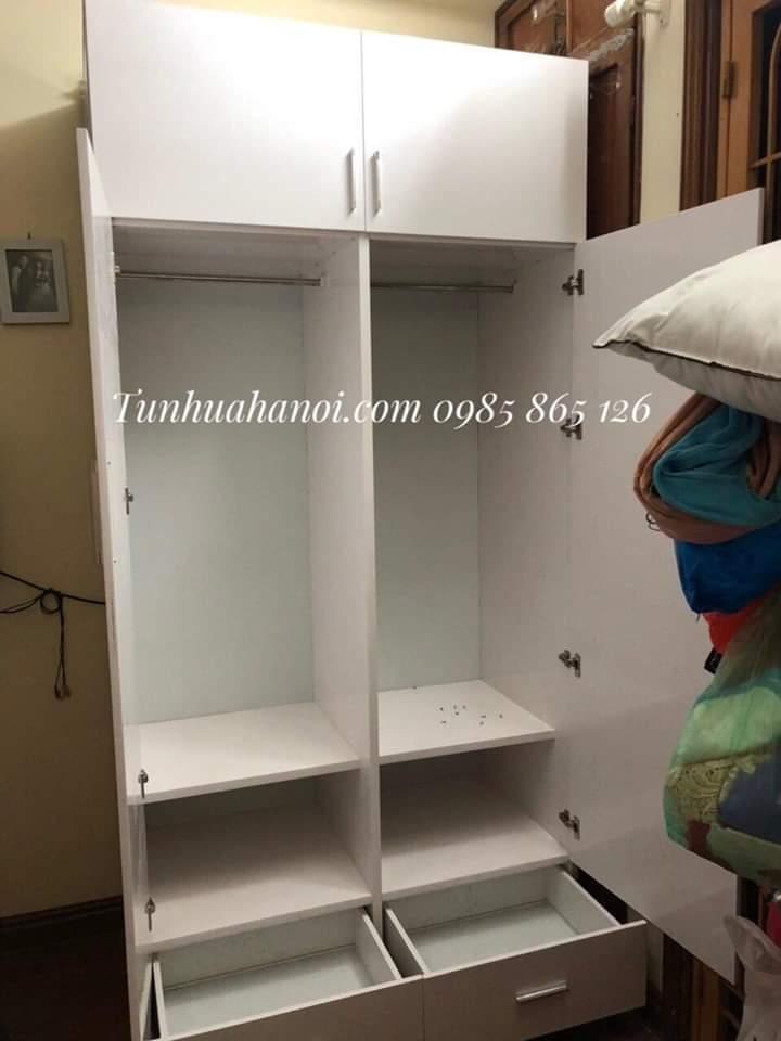 tủ nhựa đựng quần áo 2 cánh 2 ngăn